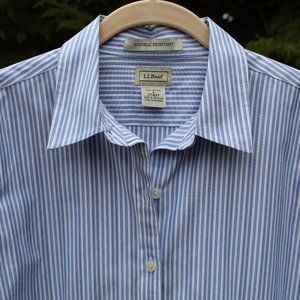LL Bean Wrinkle Resistant 3/4-Sleeve Cotton Top